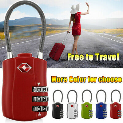 2019 New TSA SECURITY 3COMBINATION TRAVEL SUITCASE LUGGAGE BAG CODE LOCK PADLOCK