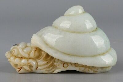 Chinese Exquisite Hand-carved Dragon turtle Carving jadeite jade statue