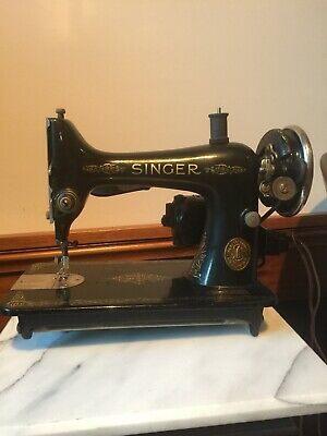 Vintage Singer In Table Sewing Machine w Foot Pedal And Original Hardware