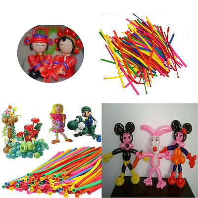 200pcs DIY Magic Long Twist Latex Balloons Tying Making Decor Mix-color Hot WY