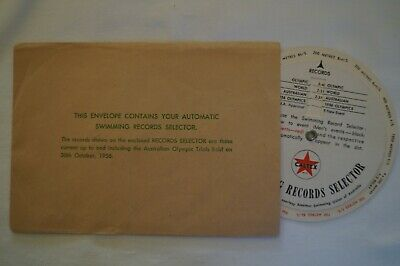 Olympic Games Collectable 1956 Melbourne Vintage Auto Swimming Records Selector