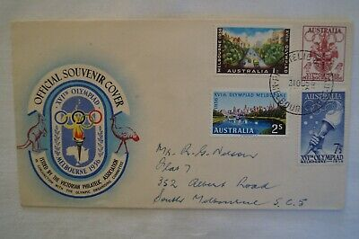 Olympic Games Collectable 1956 Melbourne Vintage Official Souvenir Cover