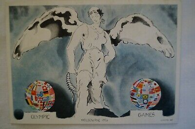 Olympic Games Collectable 1956 Melbourne Vintage To The Victor Postcard