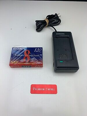 Sony 8mm Metal MP 120 Video Cassette P6-120MP VTR Camcorder Samsung Ac Adapter