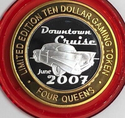 Four Queens Casino Downtown Cruise 57 Chevy .999 fine silver Red Cap LTD 500