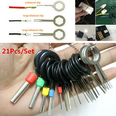 21pcs Aluminum Motorcycle Wire Terminal Removal Tool Wiring Connector Pin Puller