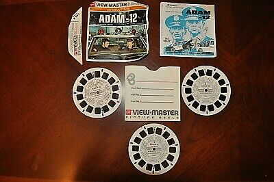 Vintage GAF View Master B593 Showtime Adam-12 3 Reel Set