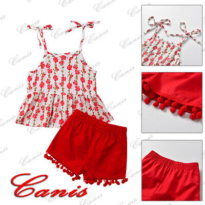 Newborn Toddler Baby Girl Stripes Sling Skirts+Shorts Pants 2Pcs Outfits Clothes