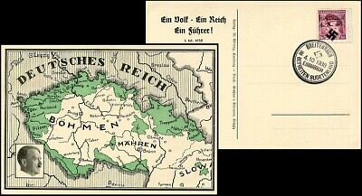SU273. SUDETENLAND SPECIAL Post Card 1938 Hermannshutte Liberation on