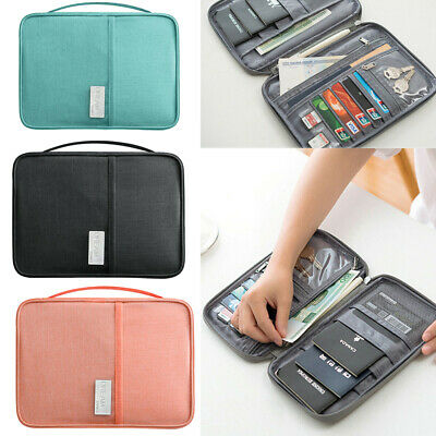 AU Family Travel Organiser Passport Document Holder Tickets Wallet Storage Bag