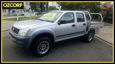 2003 Holden Rodeo RA LX Silver Manual 5sp M Crew Cab Pickup
