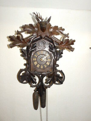 Old Cuckoo Clock 1880 - 1910 Made In Austria