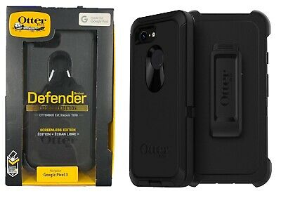 OtterBox Defender Series Case with Belt Clip Holster for Google Pixel 3 Black