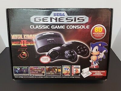 Sega Genesis- Classic Game Console- AtGames- 80 Built in Games