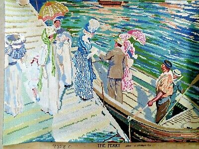 Craft Hand Made Tapestry Completed Unframed Australian Classics The Ferry