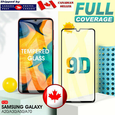 For Samsung Galaxy A20 A30 A50 A70 A10e Full Tempered Glass Screen Protector