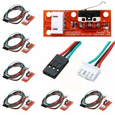 6x Mechanical Endstop End Stop Limit Switch +3Pin Cable For CNC 3D Printer RAMPS