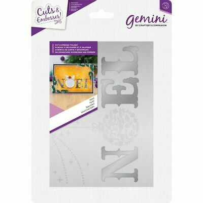 "Crafter's Companion 5"" x 7"" Paper Craft Cut & Emboss Folder - Noel"