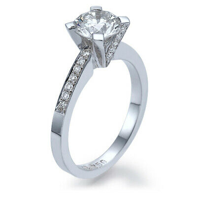 Modern 2 CT SI2/D Diamond Engagement Ring Size 5