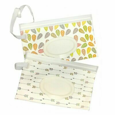 Baby Newborn  Wipes Travel Carrying Case Holder Dispenser Wet Wipe Bag Pretty