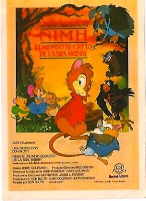 Cartoon, Family /Mrs. Brisby And The Secret Of Nimh/Derek Jacobi/1982/Herald/Don