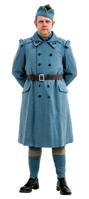 WW1 French army overcoat  pattern Horizon Blue - Made to order
