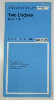 1959 Old Vintage OS Ordnance Survey 1:25000 First Series Map SX 67 Two Bridges