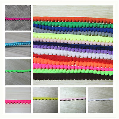 Wide 11mm Mini Pom Pom/Bobble Fringe Trim Lace trimming for crafting sewing hat