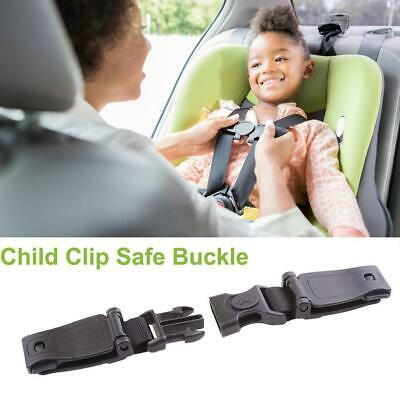 1pc Baby Safety Toddler Chest Car Seat Strap Belt Black Harness Clip Safe Buckle
