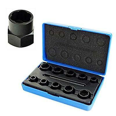 11pc Twist Sockets Locking Wheel Nut Remover Non Slip Broken Studs Rounded Bolts