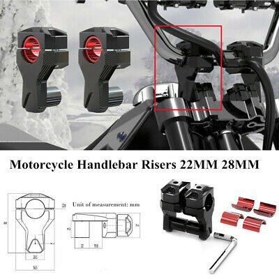 Motorcycle Handlebar Risers 22MM 28MM Heavy Duty Increase Code Accessories Black
