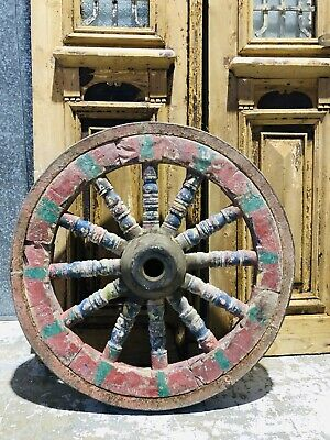 Antique Vintage Retro Original Wagon Wheel / Garden Art