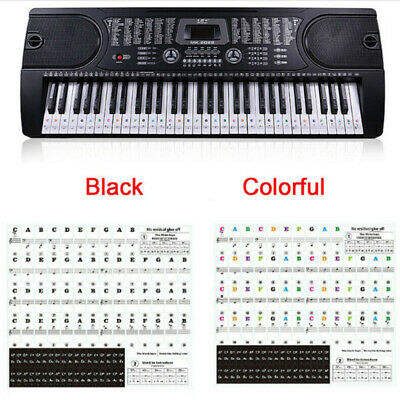 Music Keyboard Piano Stickers 37/49/54/61/88 Key Set Removable Stickers Decal