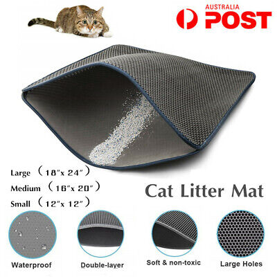 Pet Cat Litter mat Large Kitty Litter Box Trapping Sifting Mats Waterproof Trays