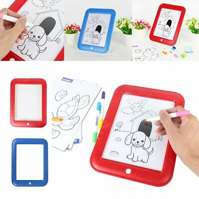 3D Magic Drawing Board Pad Glowing Writing Painting Pad Doodle Kids Toy O6