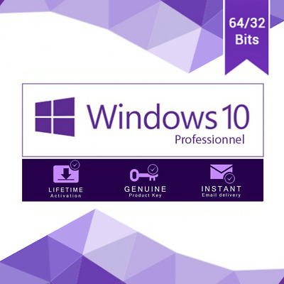 Windows 10 Pro 32/64 bit Win 10 genuine license original key