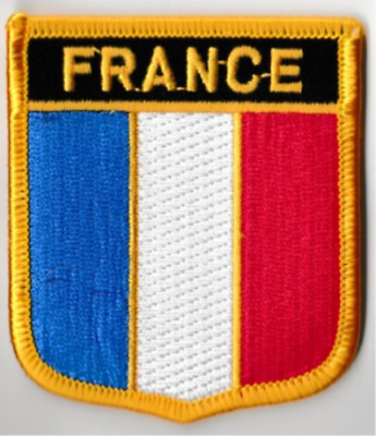 France Country Flag Embroidered Patch T4