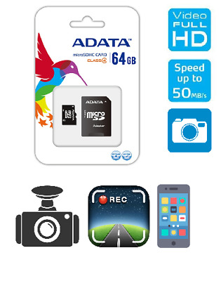 ADATA Micro SD 64GB SD Memory Card Mobile Phone Class 10 With SD ADAPTER