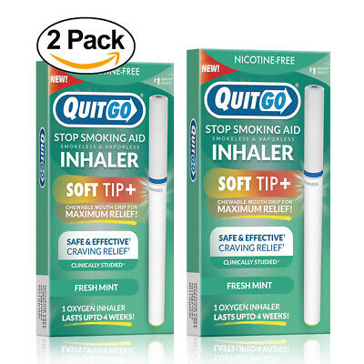 Quit Smoking Aid, Smoke-Free inhaler with Soft Chewable Filter Clinically Tested