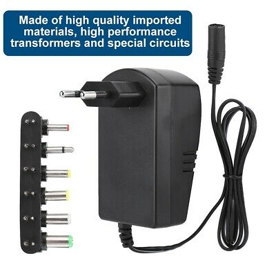 30W Universal Power Supply Adapter 3V 4.5V 6V 7.5V 9V 12V Adjustable Voltage HA