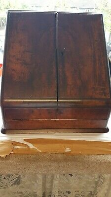 Antique  Desktop Stationery Cabinet , Writing Boxcomplete with contents