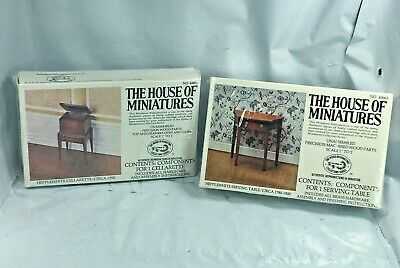 Lot House Of Miniatures #40065 Hipplewhite Serving Table #40062 Cellarette New