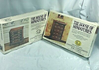 Lot The House Of Miniatures #40054 Bachelor's Chest #40010 Chippendale Chest New