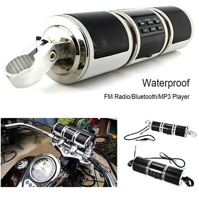 Motorcycle Bluetooth Audio Sound System MP3 FM Radio Stereo Speakers WaterprooWR