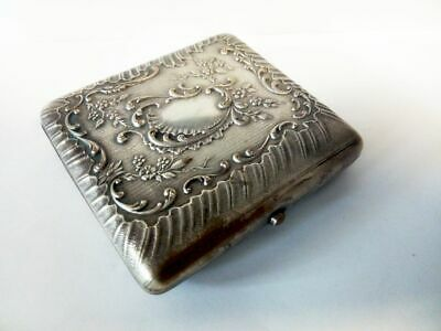 versilbertes Zigarrettenetui-ART NOUVEAU-antique silver plated cigarette case
