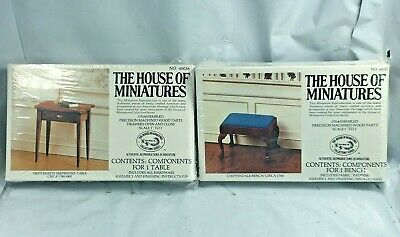 Lot House Of Miniatures #40031 Chippendale Bench #40036 Hepplewhite Table NEW FS