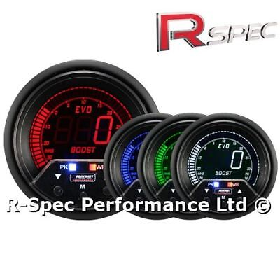 Prosport 60mm Premium Evo Peak / Adustable Warning LCD Turbo Boost Gauge - PSI