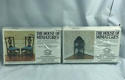 House Of Miniatures #40028 CHIPPENDALE CHAIRS #40056 HEPPLEWHITE WASHSTAND NEW