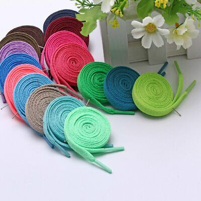 Flat Polyester Shoelaces Coloured Bootlace Sports Shoe Sneakers Shoe Lace Rope K
