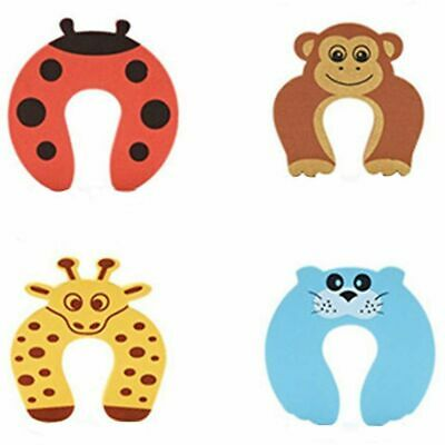 1X(C-Shaped Foam Door Guard Anti-Slam Animals 4 Pack I9Y2)